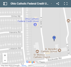 Union Ohio Map.Garfield Heights Credit Union Ohio Catholic Fcu