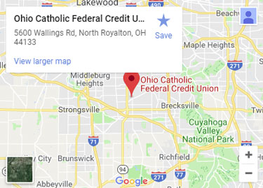 Union Ohio Map.North Royalton Credit Union Ohio Catholic Fcu